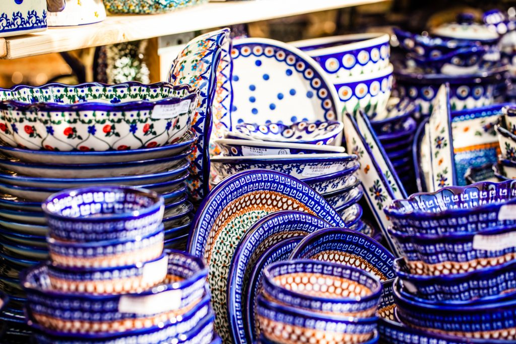 polish pottery casserole