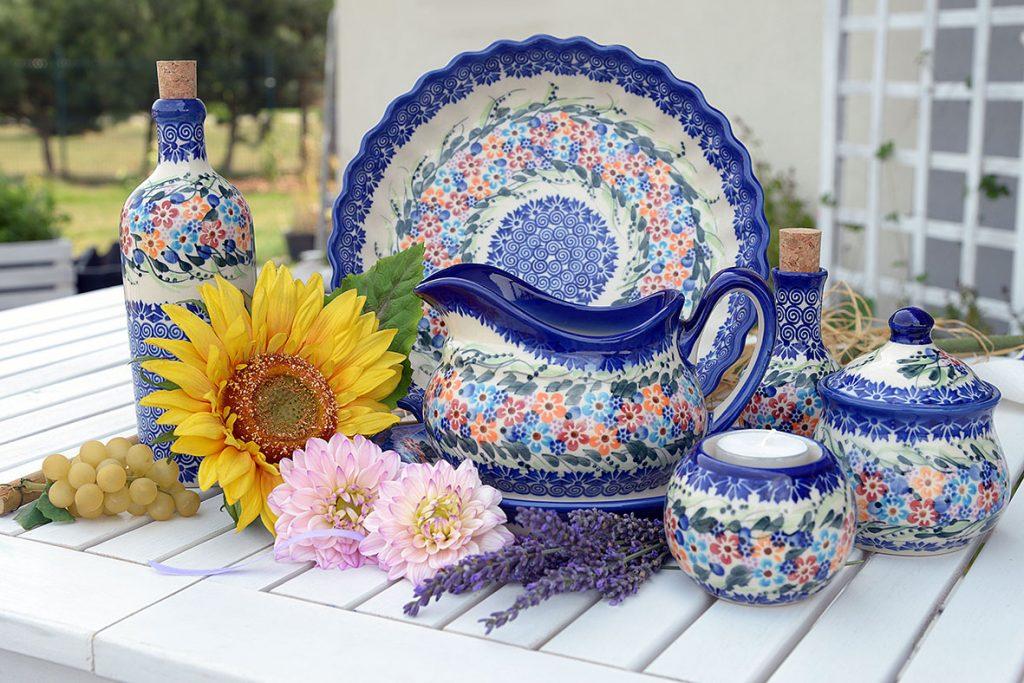 polish pottery plates