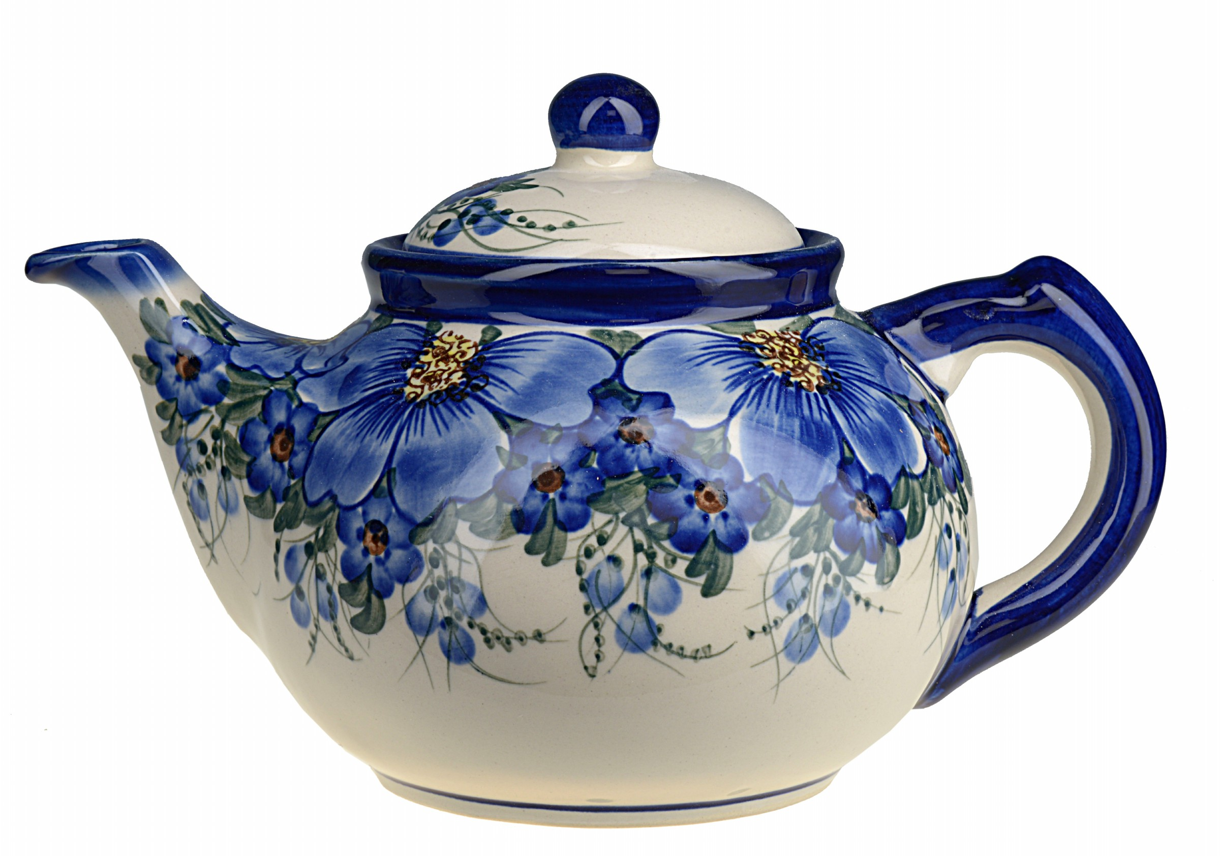 Bcv Hand Painted 9 Cup Teapot With Lid