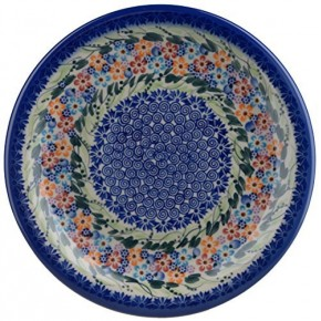 Classic Boleslawiec, Polish Pottery Hand Painted Ceramic Dinner Plate (Diameter: 26.0cm /10.2 inch) 134-U-008