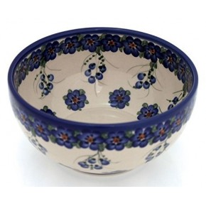 Classic Boleslawiec Pottery Hand Painted Ceramic Salad Bowl 1.7 litres / 3.1 pints 074-U-001