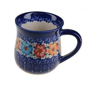 Classic Polish, Boleslawiec Pottery Hand Painted Ceramic Mug 350ml 053-U-004
