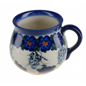 Classic Polish, Boleslawiec Pottery Hand Painted Ceramic Mug Barrel 525-U-001