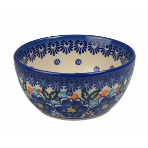 Classic Boleslawiec Pottery Hand Painted Ceramic Bowl 400ml, 071-U-097