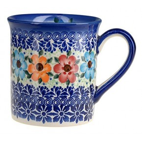 Classic Boleslawiec Pottery Hand Painted Ceramic Mug 300ml 057-U-004