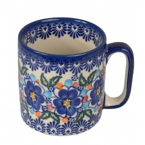 Classic Boleslawiec Pottery Hand Painted Ceramic Mug 400ml, Large, 055-U-097