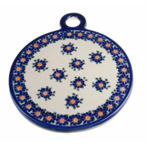 Classic Boleslawiec Pottery Hand Painted Ceramic Cutting and Chopping Board 506-U-018