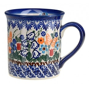 Classic Boleslawiec Pottery Hand Painted Ceramic Mug 300ml 057-U-099