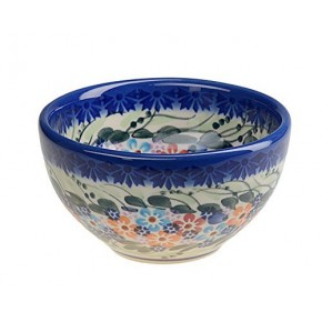 Classic Boleslawiec, Polish Pottery Hand Painted Ceramic Snack, Dip Bowl 250 ml, 518-U-008