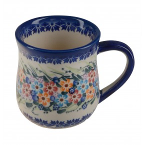 Classic Boleslawiec Pottery Hand Painted Ceramic Mug 350ml 053-U-008