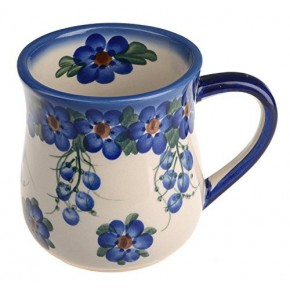 Classic Boleslawiec Pottery Hand Painted Ceramic Mug 350ml 053-U-001