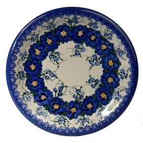 Classic Boleslawiec, Polish Pottery Hand Painted Ceramic Dinner Plate, Diameter: 26.0cm /10.2 inch, 134-U-003