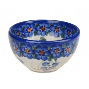 Classic Boleslawiec Pottery Hand Painted Ceramic Snack & Dip Bowl, 250 ml Small 518-U-001