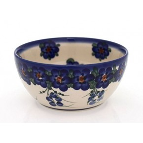 Classic Boleslawiec Pottery Hand Painted Ceramic Bowl 400ml, 071-U-001