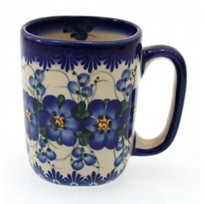 Classic Boleslawiec Pottery Hand Painted Ceramic Mug 300 ml 058-U-003