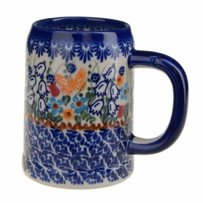 Classic Boleslawiec Pottery Hand Painted Ceramic Mug 400ml Large 505-U-099