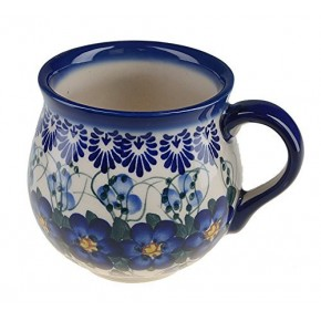 Classic Boleslawiec, Polish Pottery Hand Painted Ceramic Mug Barrel 300 ml, 524-U-003