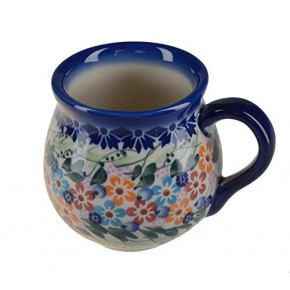 Classic Boleslawiec, Polish Pottery Hand Painted Ceramic Mug Barrel 250 ml, 523-U-008
