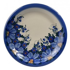Classic Boleslawiec, Polish Pottery Hand Painted Ceramic Dinner Plate, Diameter: 26.0cm/10.2 inch, 134-A-064