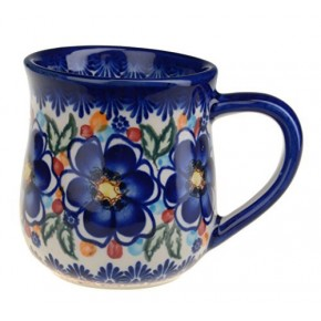 Classic Boleslawiec Pottery Hand Painted Ceramic Mug 350ml 053-U-097