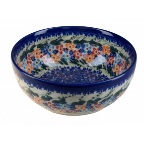 Classic Boleslawiec,Polish Pottery Hand Painted Ceramic Salad Bowl 950ml, 0.95 litre, 073-U-008