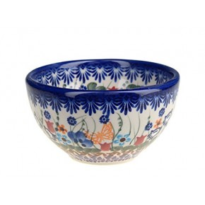 Classic Boleslawiec Pottery Hand Painted Ceramic Snack & Dip Bowl, 250 ml Small 518-U-099
