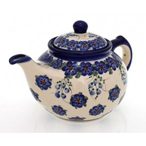 Classic Boleslawiec Pottery Hand Painted Ceramic 9-Cup Teapot with lid 1.5 litre 018-U-001