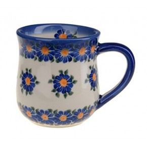 Classic Boleslawiec Pottery Hand Painted Ceramic Mug 350ml 053-U-018