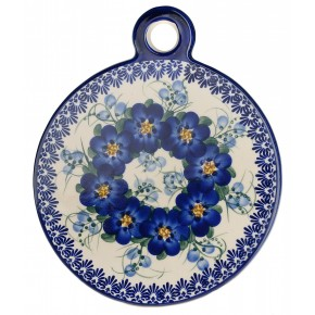 Classic Boleslawiec Pottery Hand Painted Ceramic Cutting and Chopping Board 506-U-003