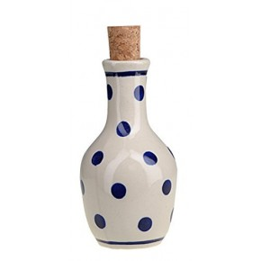 Classic Boleslawiec Pottery Hand Painted Ceramic Olive Oil or Vinegar Bottle 125ml 513-T-075
