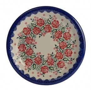Classic Boleslawiec, Polish Pottery Hand Painted Ceramic Dinner Plate (Diameter: 26.0cm /10.2 inch) 134-U-009