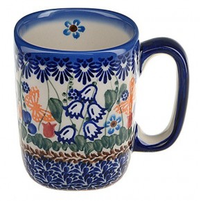 Classic Boleslawiec, Polish Pottery Hand Painted Ceramic Mug 300 ml 058-U-099