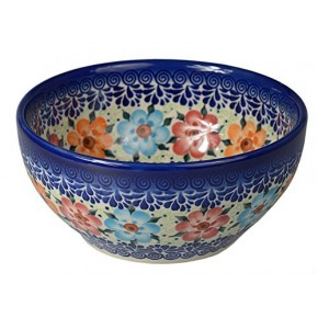 Classic Boleslawiec, Polish Pottery Hand Painted Ceramic Bowl 700 ml, 072-U-004