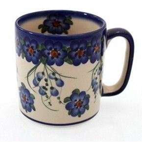 Classic Boleslawiec Pottery Hand Painted Ceramic Mug 400ml Large 055-U-001