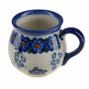 Classic Polish, Boleslawiec Pottery Hand Painted Ceramic Mug Barrel Barrel 250 ml, 523-U-001