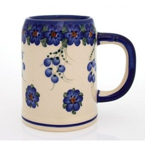 Classic Boleslawiec Pottery Hand Painted Ceramic Mug 400ml Large 505-U-001